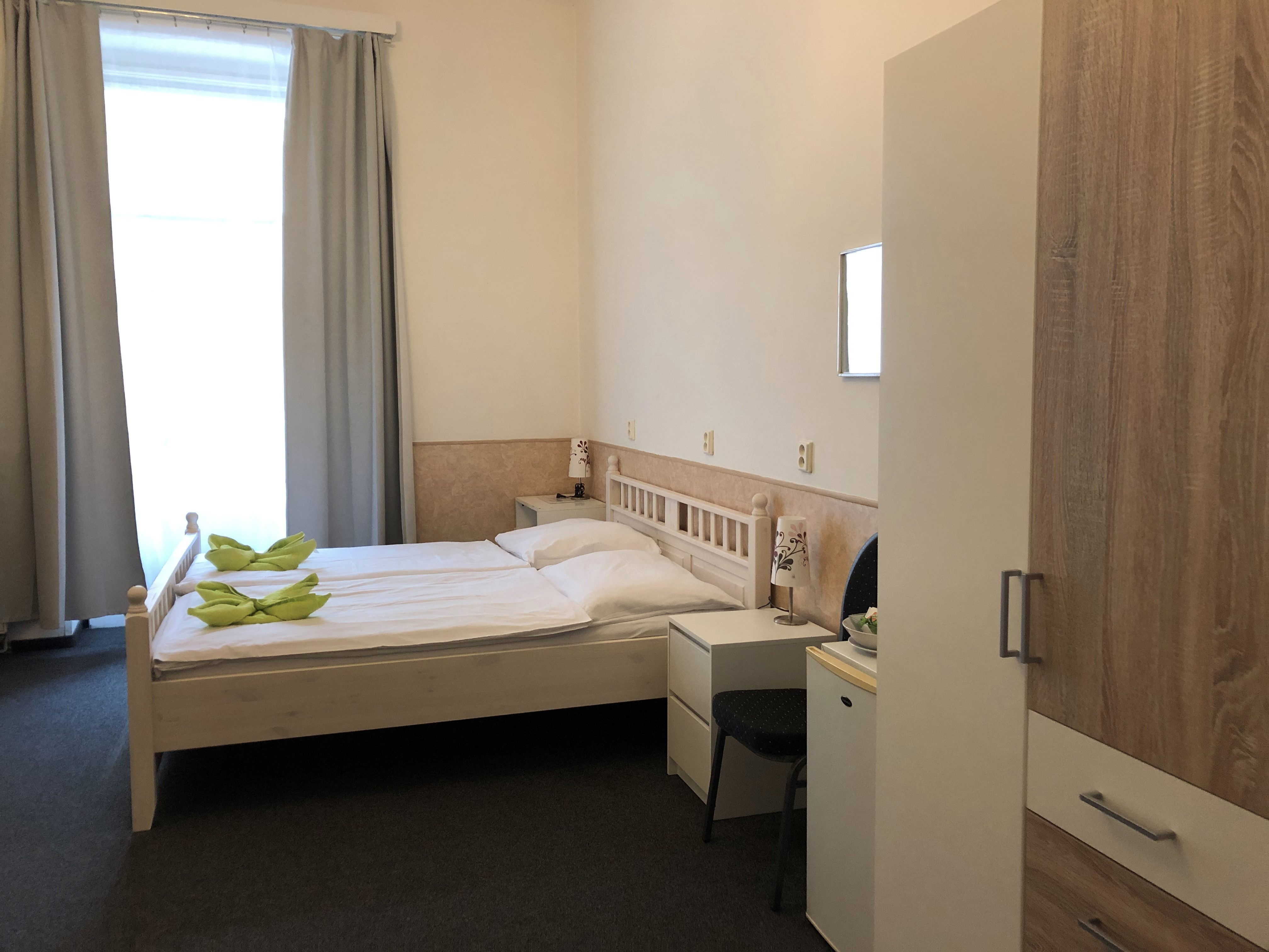 A double room with shared bathroom